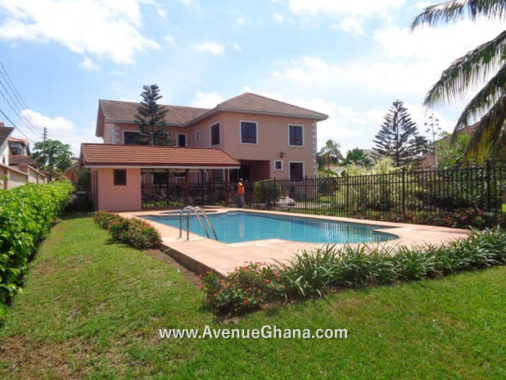 1 5 bedroom house with swimming pool and 2 BQ for rent at Airport Hills in Accra Ghana
