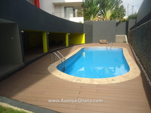 Executive 2 bedroom furnished apartment with swimming pool for rent in Airport Residential, Accra