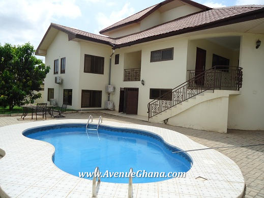 6 Bedroom House With Swimming Pool For Rent In East Legon