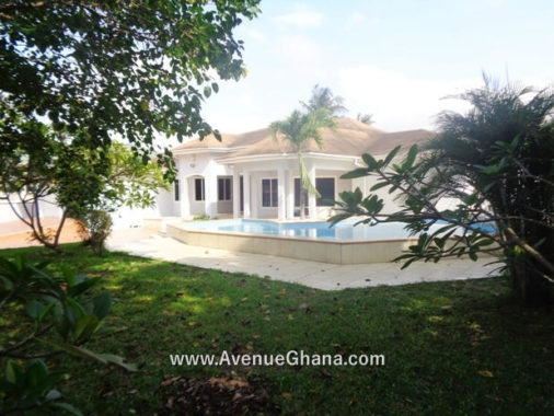 4 bedroom swimming pool house for rent in East Legon Ambassadorial Enclave on Akuffo Addo Street