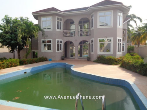 5 bedroom house with swimming pool for rent at East Legon near A&C Shopping Mall in Accra Ghana
