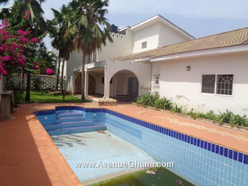 5 bedroom house with swimming pool for rent in East Legon, Accra