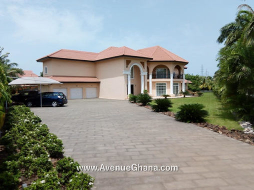 5 bedroom estate house with swimming pool for sale in Trasacco Valley in East Legon Accra, Ghana
