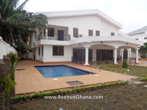 4 bedroom house with swimming pool for rent in Airport Residential Area, Accra Ghana