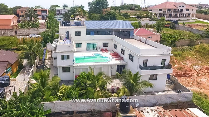 6 bedroom house with swimming pool for sale at MacCarthy Hills in Accra Ghana