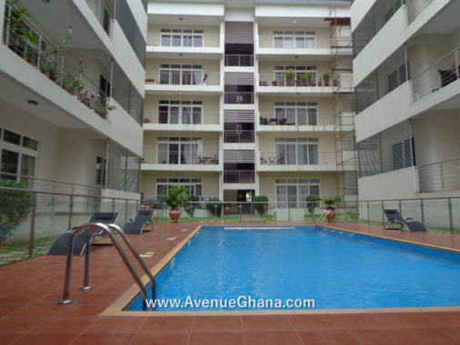 3 bedroom furnished apartment to let at North Ridge near The Ridge Hospital, Accra